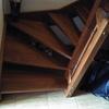 Construccion pequeña entreplanta en hueco escalera