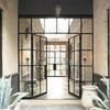 Puertas de forja y cristal doble