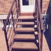 Cambiar escalera acceso jardín