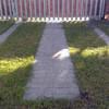 Jardín: retirar tres tiras de hormigón/piedra y rellenar con tierra