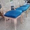 Tapizar asientos de 4 sillas