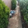 Hormigon impreso en el jardin