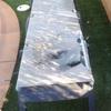 Cambiar tela de tumbonas jardin