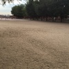 Campo de fútbol de césped artificial en colegio