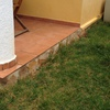 Cerrar garaje para hacer trastero y solera en jardín de 14 m
