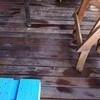 Limpiar suelo debajo tarima y restaurar