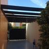 Techar estructura de garaje con aluminio en color blanco