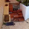 Escalera exterior jardin