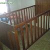 Estructura con barrotes para cama de 90 cm