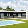 Construir estructura prefabricada de hormigón de casa de de unos 200m2 todo planta baja con parquing