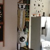Puerta cristal blanco para trastero en cocina