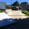 Reformar puerta acero galvanizada de chalet por accidente con coche