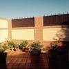 Construir piscina de obra en un patio de chalet adosado