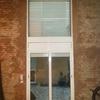 Balconera y ventana fija de aluminio en hospitalet de llobregat
