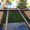 Poner cemento prensado en área de 15 m2