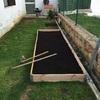 Hormigonar y solar jardín de