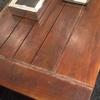 Arregló mesa de madera