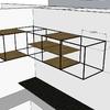 Fabricación de mueble botellero en metal y madera - reforma local comercial