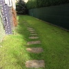Asfaltado lateral jardín 105 m2