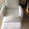 Tapizar sofá reclinable de polipiel