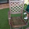 Pintura de mesa y sillas de jardin