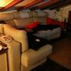 Tapizar  sofá con chaise longue con tejido claro y resistente