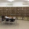 Forrado de casilleros sala de profesores en color gris