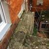 Reparación de patio con placa de hormigón