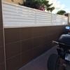Cerramiento en aluminio lacado blanco para terraza (veneciano según foto)