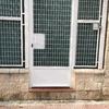 Puerta hierro de hierro blanco