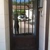 Puerta de aluminio exterior de 2 hojas
