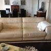 Cubrir 2 sofas con cuero color de crema