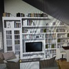Libreria abuhardillada estantes/armario