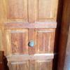 Arreglo puerta exterior madera adosado