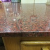 Encolado de grieta en marmol de cocina