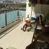 Microcemento, suelo terraza de un piso (terraza cubierta)