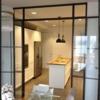 Puerta interior metal negro y cristal
