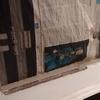Cristal roto ventana madera