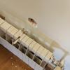Colgar radiador desenganchado en pared