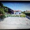 Proyecto jardin con porche, cochera y piscina