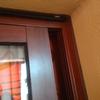 Cambio 2 ventanas y cierre lavadero aluminio color madera
