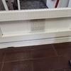 Reparar puerta aluminio cocina (cristal + cierre inferior)