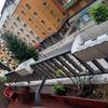 Cerramiento de una terraza sin perfiles verticales