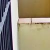 Emplastecer ranuras abiertas de lozas 2 balcones y pintar alrededor