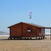 Pintar caseta de madera en la playa