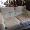 Tapizar partes sofa de piel blanco