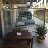 Enredadera en terraza de oficina