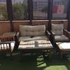Restauración celosía y muebles de terraza
