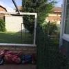 Construir tapia de bloque blanco de hormigón