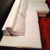 Tapizar respaldos y asientos con tela sofa de 2 plazas + cheslong